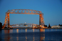 Arial Lift Bridge at Dusk